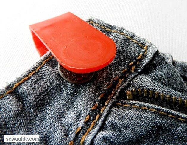 reemplazo de botones de jeans