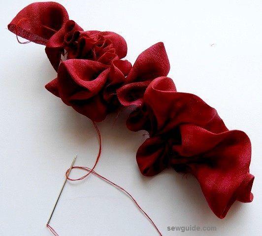 hacer rosas de tela fáciles