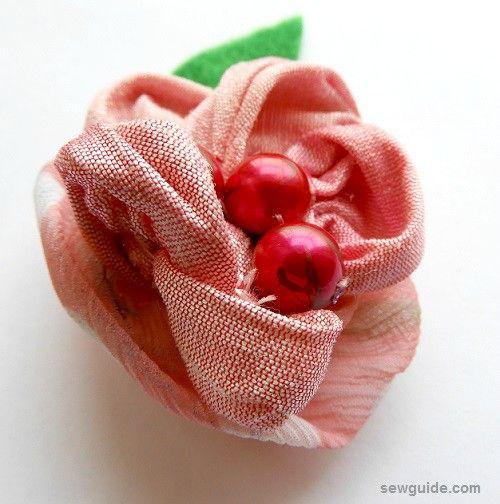 hacer rosas de tela