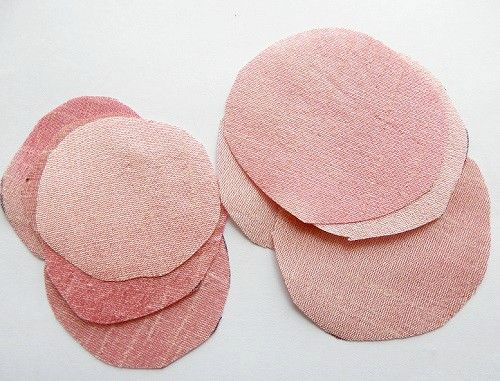 bricolaje tela rosas