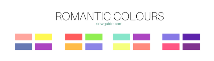 combinaciones de colores y mezclas para ropa y moda.