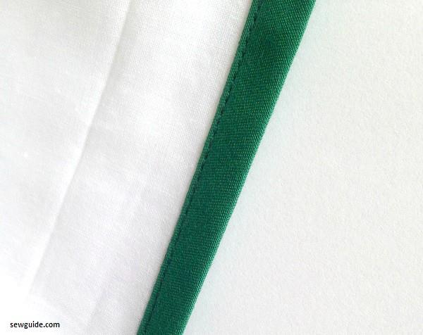 cinta de sesgo encuadernación de escotes