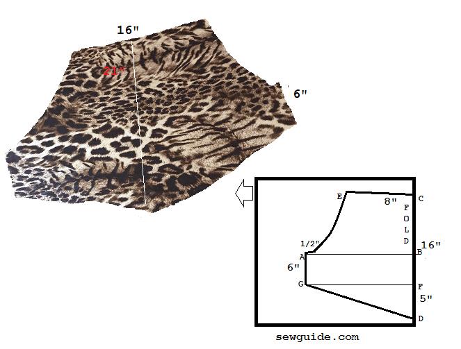 patrón de cuello halter top