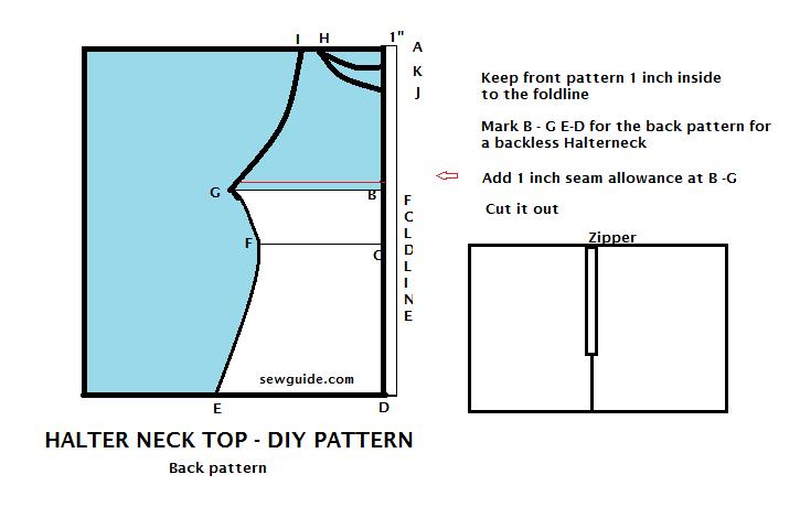cuello halter cómo coser