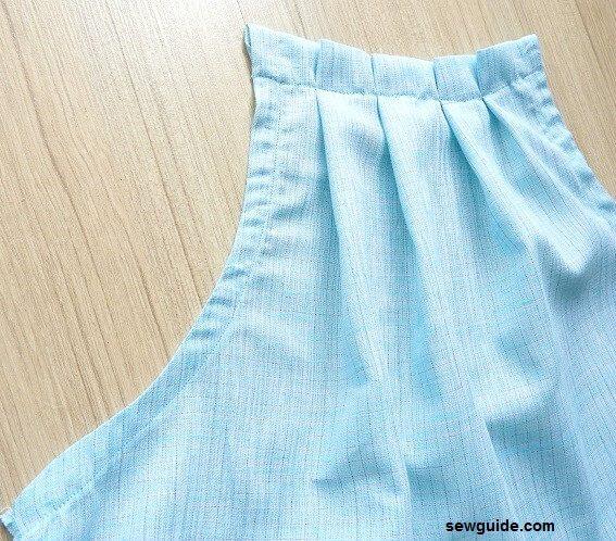 coser un top sin mangas