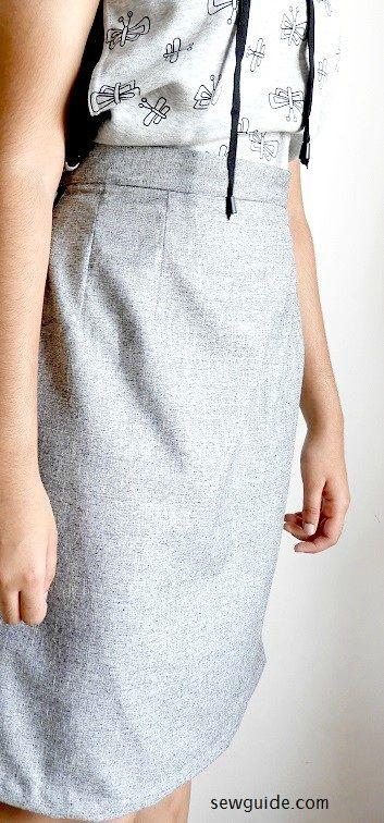 patrón básico de costura de la falda