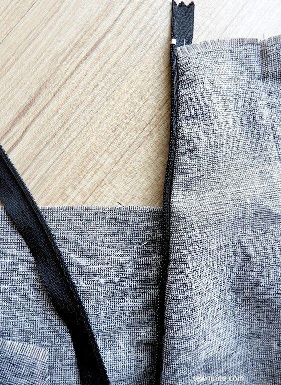 coser una falda recta simple