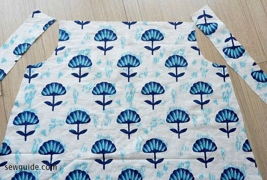 patrón de costura superior simple