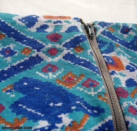 patrón de falda de yugo con cremallera