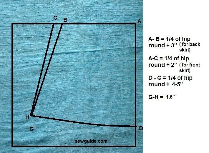 cómo coser una falda recta con yugo