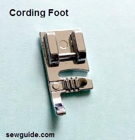 pie de presión de costura