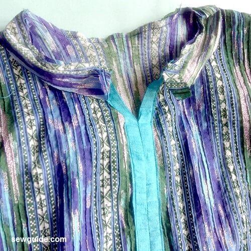 patrón de costura de vestido acampanado