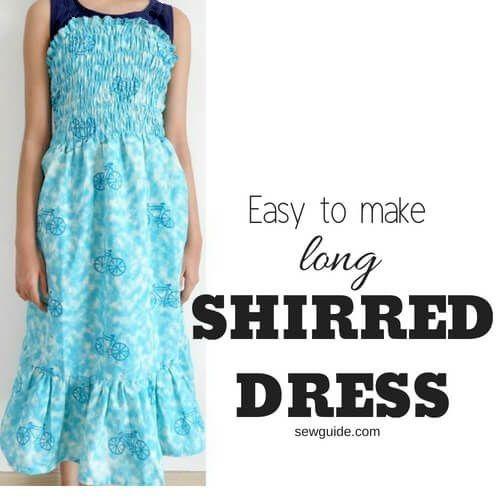 vestido fruncido fácil de hacer